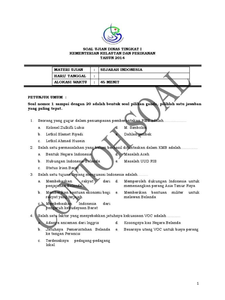 14++ Soal dan jawaban ujian dinas tingkat 1 info