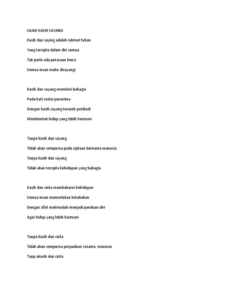 Puisi Kasih Sayang Orang Tua : puisi, kasih, sayang, orang, Sajak, Kasih, Sayang