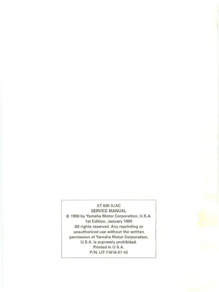 yamaha xt600e workshop manual verysmall pdf propulsion vehicle technology [ 768 x 1024 Pixel ]