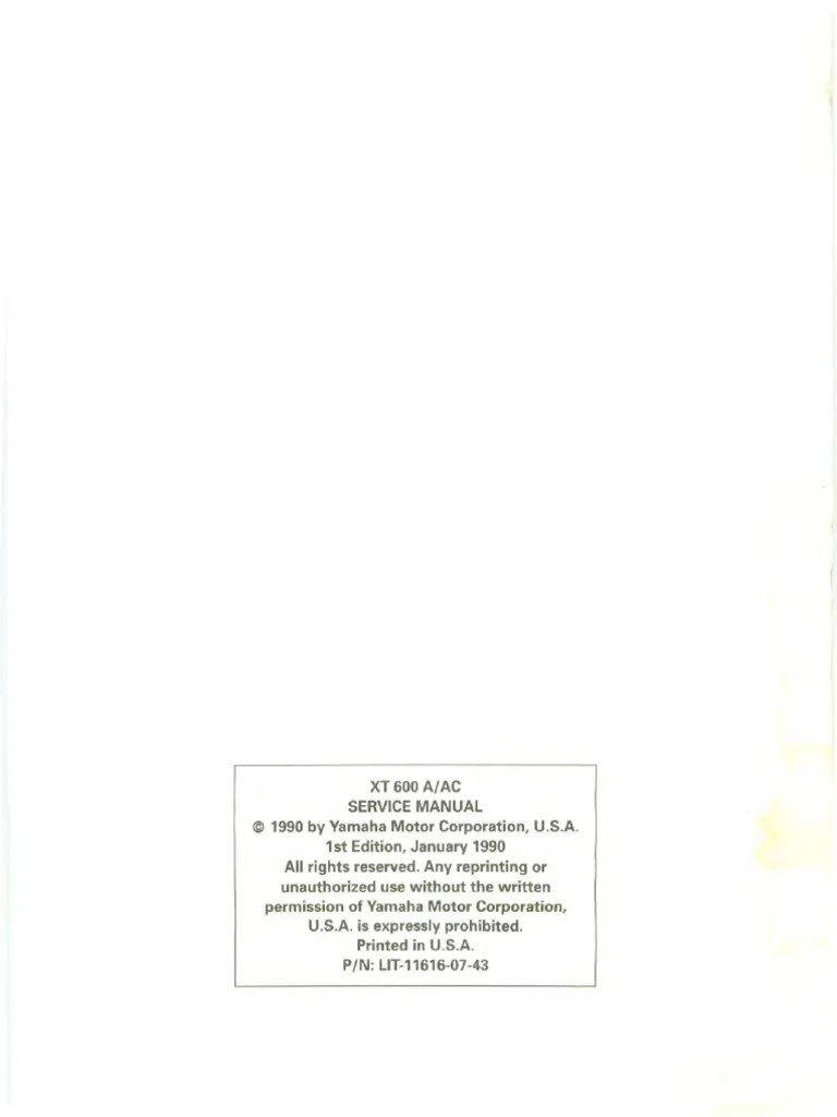 hight resolution of yamaha xt600e workshop manual verysmall pdf propulsion vehicle technology