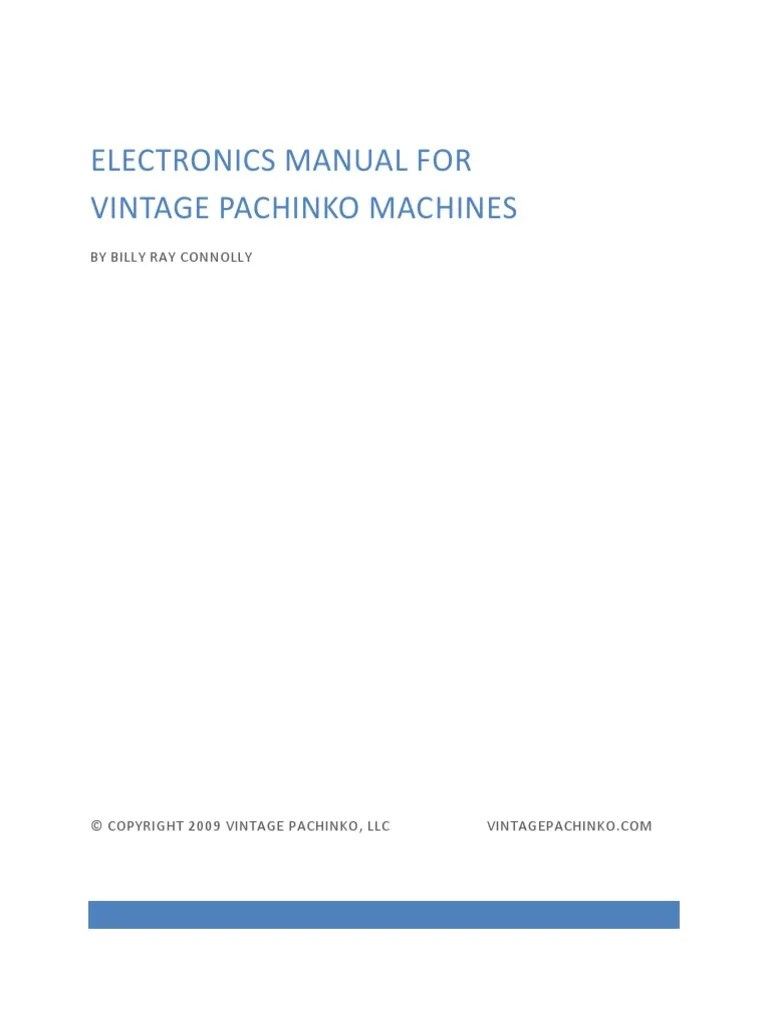 electronics manual for vintage pachinko machines switch fuse electrical  [ 768 x 1024 Pixel ]