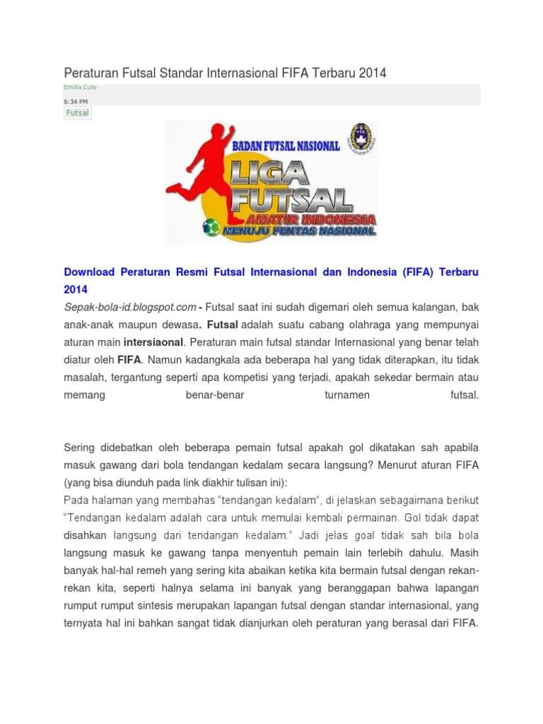 Peraturan Futsal Terbaru : peraturan, futsal, terbaru, Peraturan, Futsal, Standar, Internasional, Terbaru