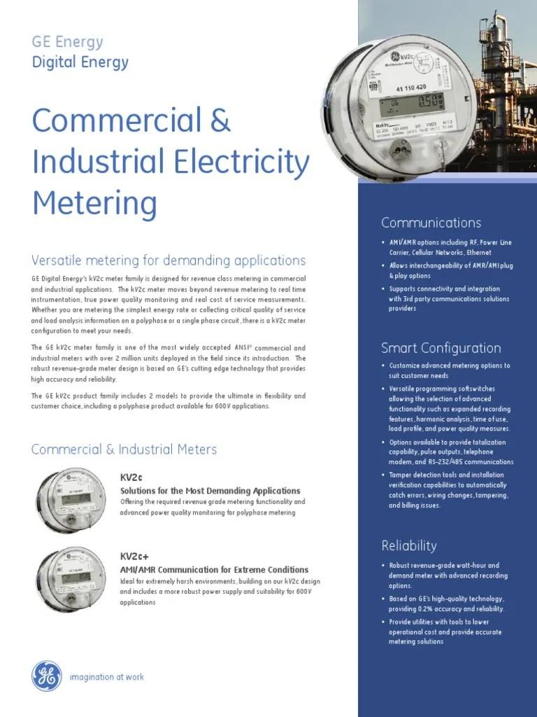 ge kv2c multifunction meter fitzall wiring diagram ba xr6 icc kv2 family gea 12673 power supply electric distribution