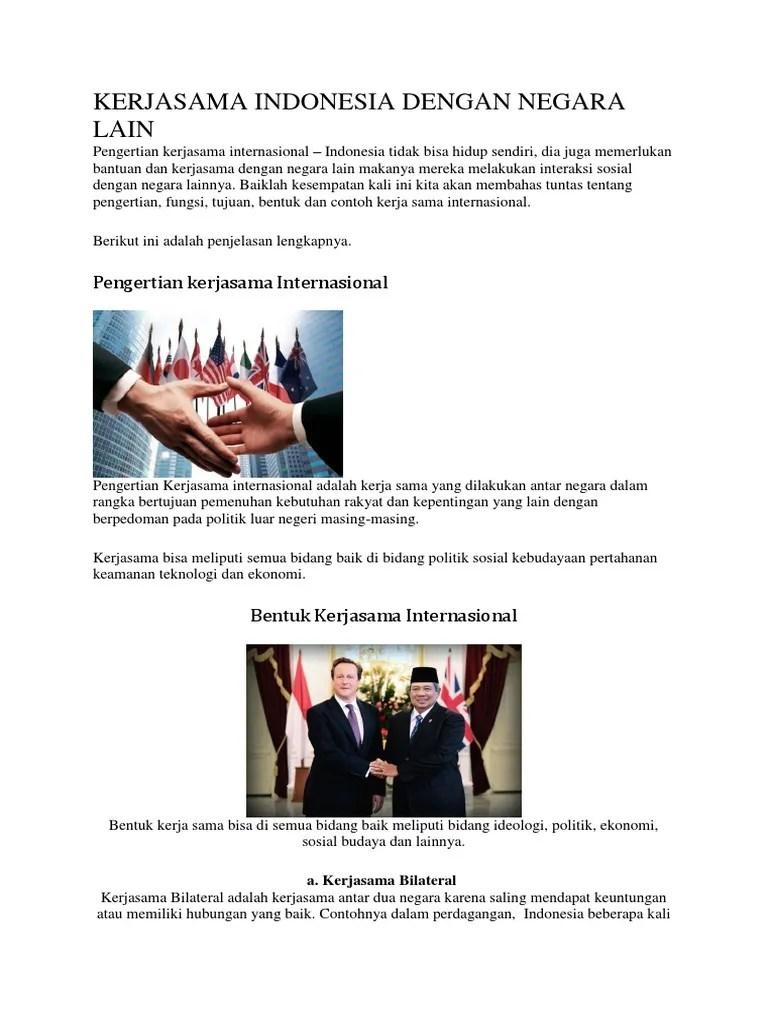 Kerjasama Di Bidang Politik : kerjasama, bidang, politik, Contoh, Kerja, Indonesia, Dengan, Negara, Dalam, Bidang, Politik, Seputar, Kerjaan, Cute766