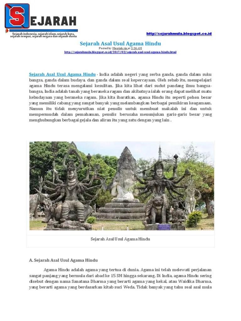 Asal Mula Agama Hindu : agama, hindu, Sejarah, Agama, Hindu