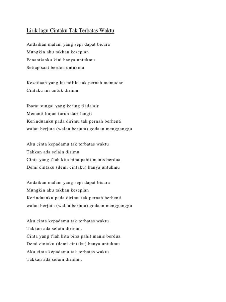 Anie Carera Cintaku Tak Terbatas Waktu Lirik : carera, cintaku, terbatas, waktu, lirik, Andaikan, Malam, Dapat, Bicara, Belajar