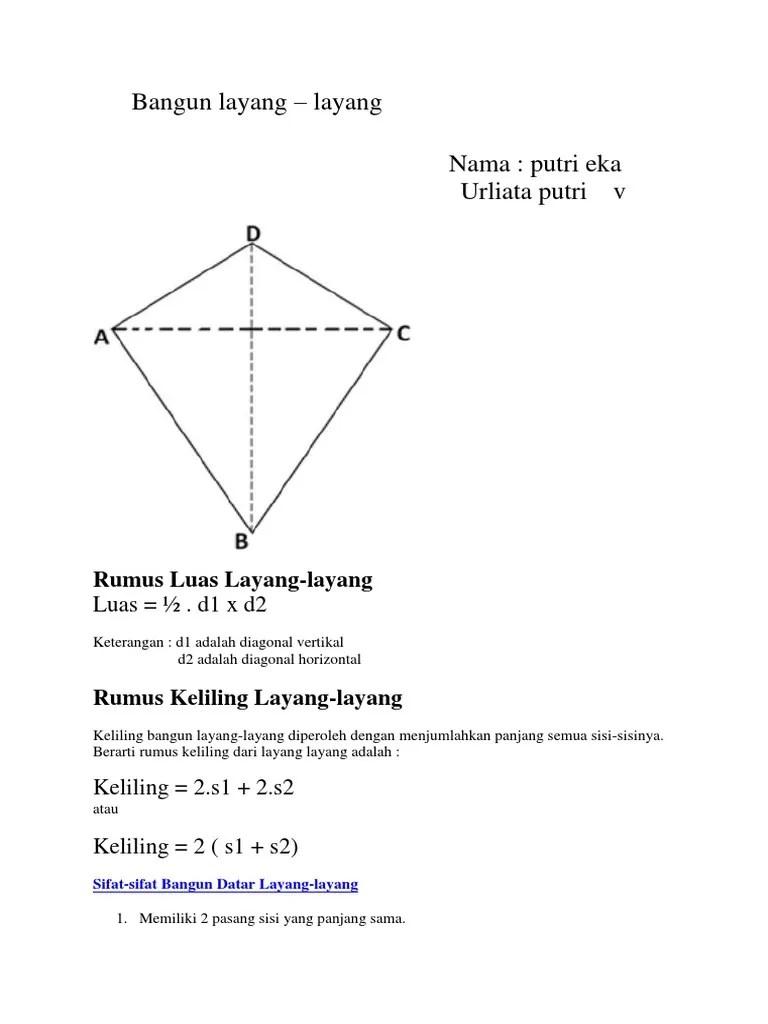 Diagonal Layang Layang : diagonal, layang, Bangun, Layang