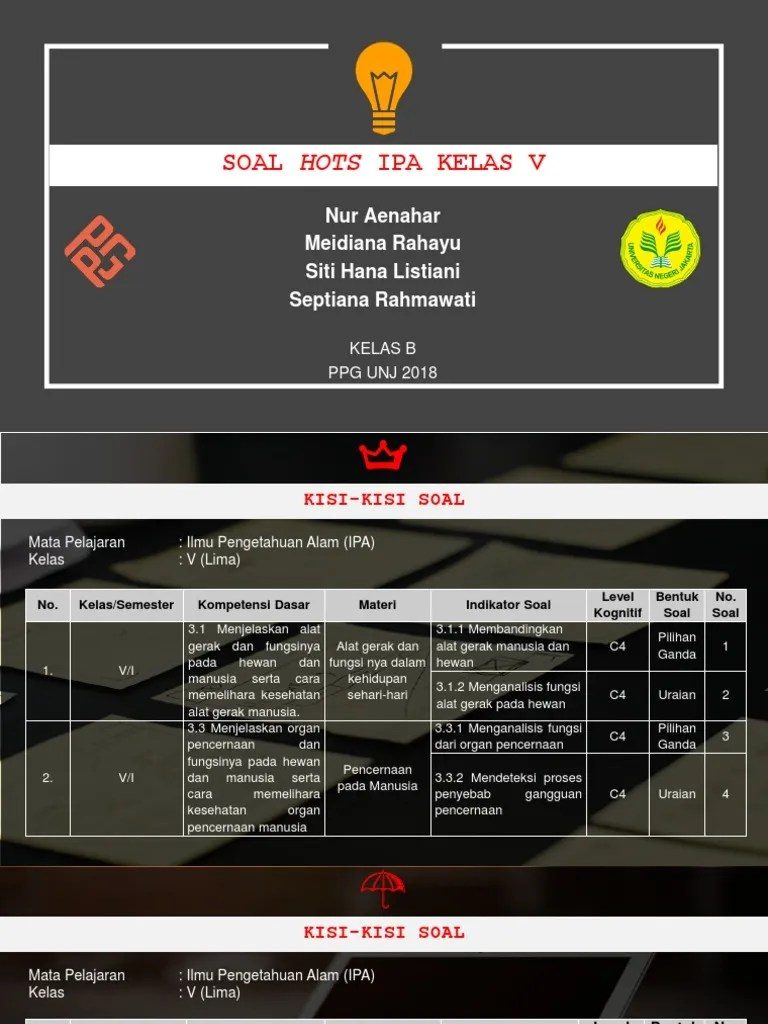 Contoh Soal Hots Sd Kelas 5 : contoh, kelas, KELAS, SD.pptx