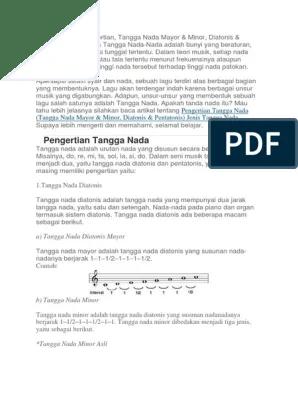 Pengertian Tangga Nada Minor : pengertian, tangga, minor, Tangga