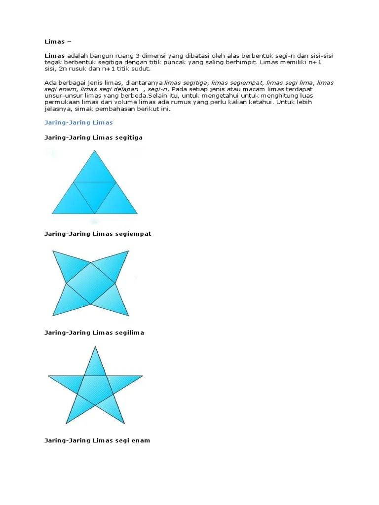 Jaring Limas Segitiga : jaring, limas, segitiga, Bentuk, Jaring, Limas, Empat, Seputar