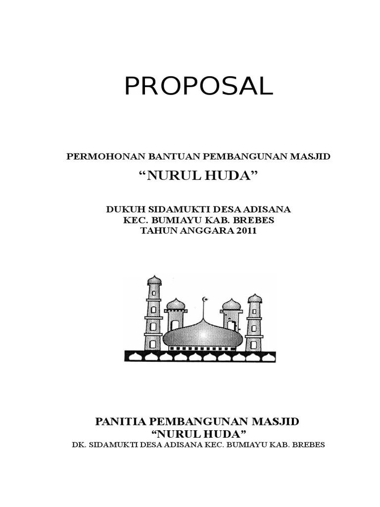 Proposal Renovasi Mushola : proposal, renovasi, mushola, Contoh, Surat, Permohonan, Bantuan, Renovasi, Mushola, Dapatkan