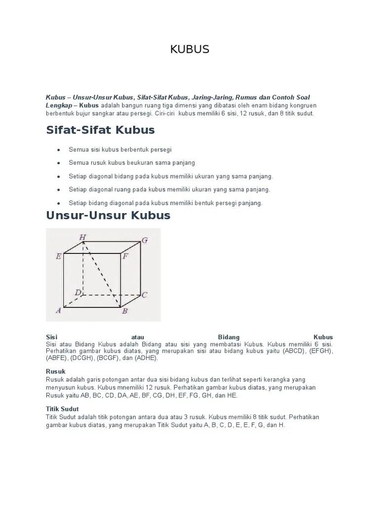 Contoh Soal Kubus : contoh, kubus, Contoh, Bangun, Ruang, Kubus