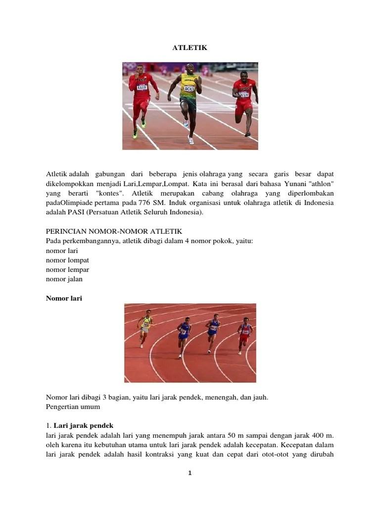 Pengertian Atletik Lari Jarak Pendek : pengertian, atletik, jarak, pendek, Nomor, Atletik, Jarak, Pendek, Biasa, Disebut, Sebutkan