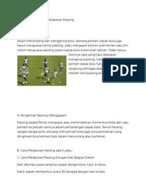 Pola Latihan Sepak Bola : latihan, sepak, Passing, Sepak