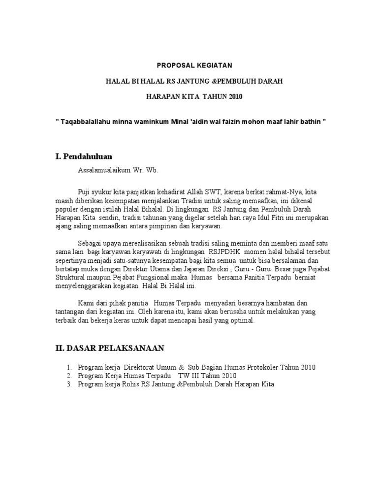 Contoh Proposal Halal Bihalal : contoh, proposal, halal, bihalal, Proposal, Halal