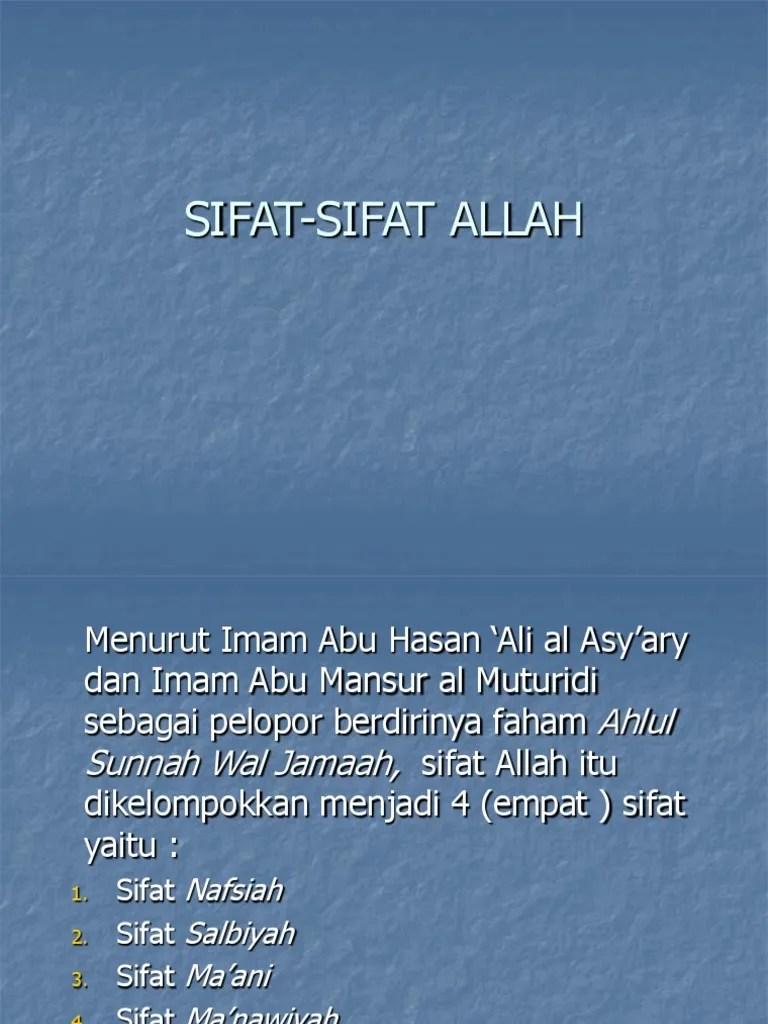 Sifat Wajib Allah Salbiyah : sifat, wajib, allah, salbiyah, SIFAT-SIFAT, ALLAH-1.ppt