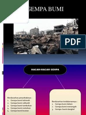 Macam Macam Gempa Bumi : macam, gempa, Gempa