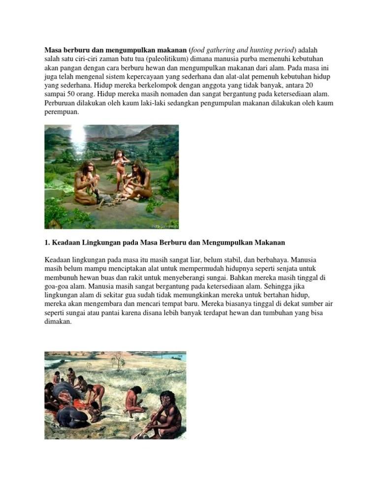 Masa Berburu Dan Mengumpulkan Makanan : berburu, mengumpulkan, makanan, Bagaimana, Manusia, Purba, Memenuhi, Kebutuhan, Bercocok, Tanam, Berbagi