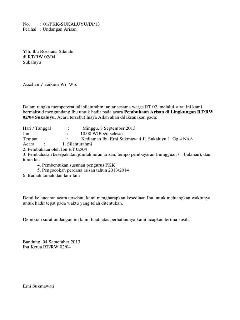 Surat Undangan Setengah Resmi : surat, undangan, setengah, resmi, Contoh, Undangan, Setengah, Resmi, Denah, Cute766