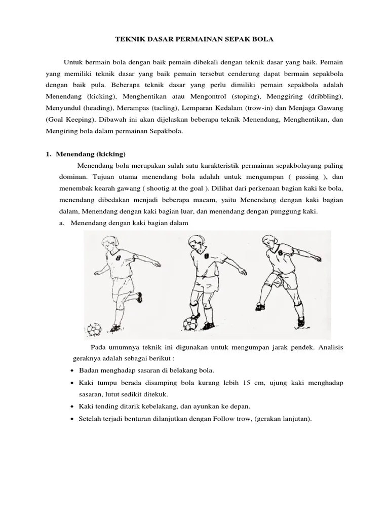 Upaya Meningkatkan Gerak Dasar Menendang Bola Dengan Kaki