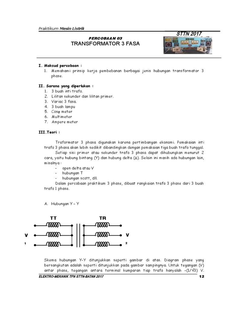Transformator 3 Fasa Pdf : transformator, Transformator
