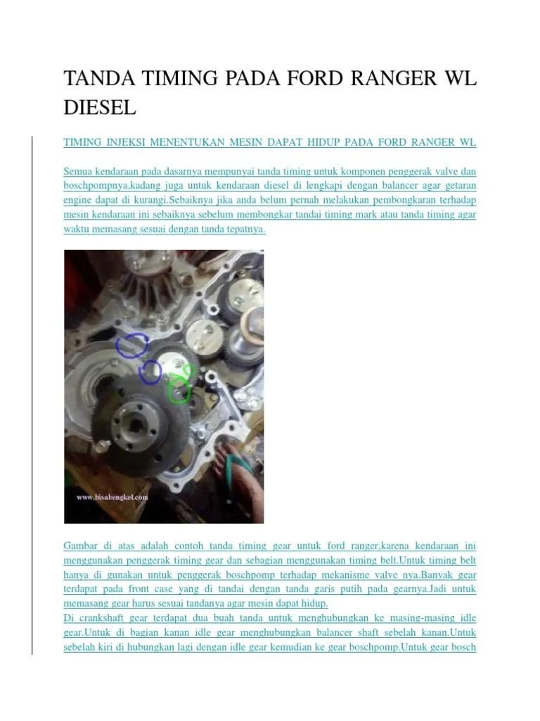 ford ranger wl engine timing marks [ 768 x 1024 Pixel ]