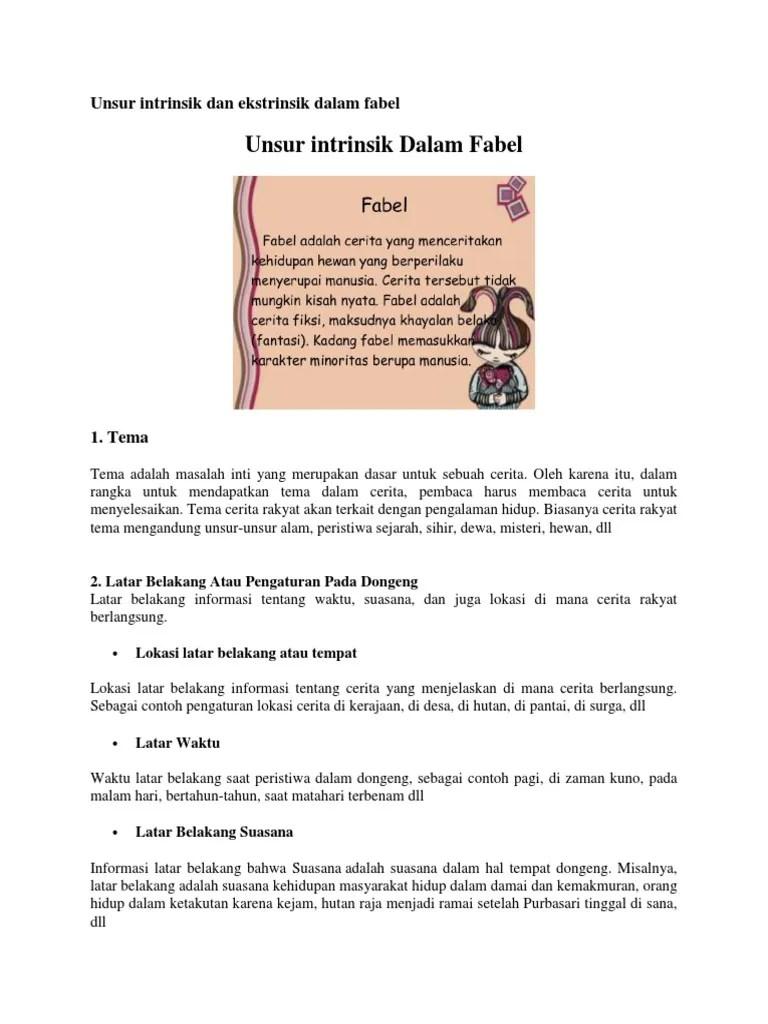 Unsur Intrinsik Fabel : unsur, intrinsik, fabel, Cerita, Fabel, Beserta, Unsur, Intrinsiknya, IlmuSosial.id