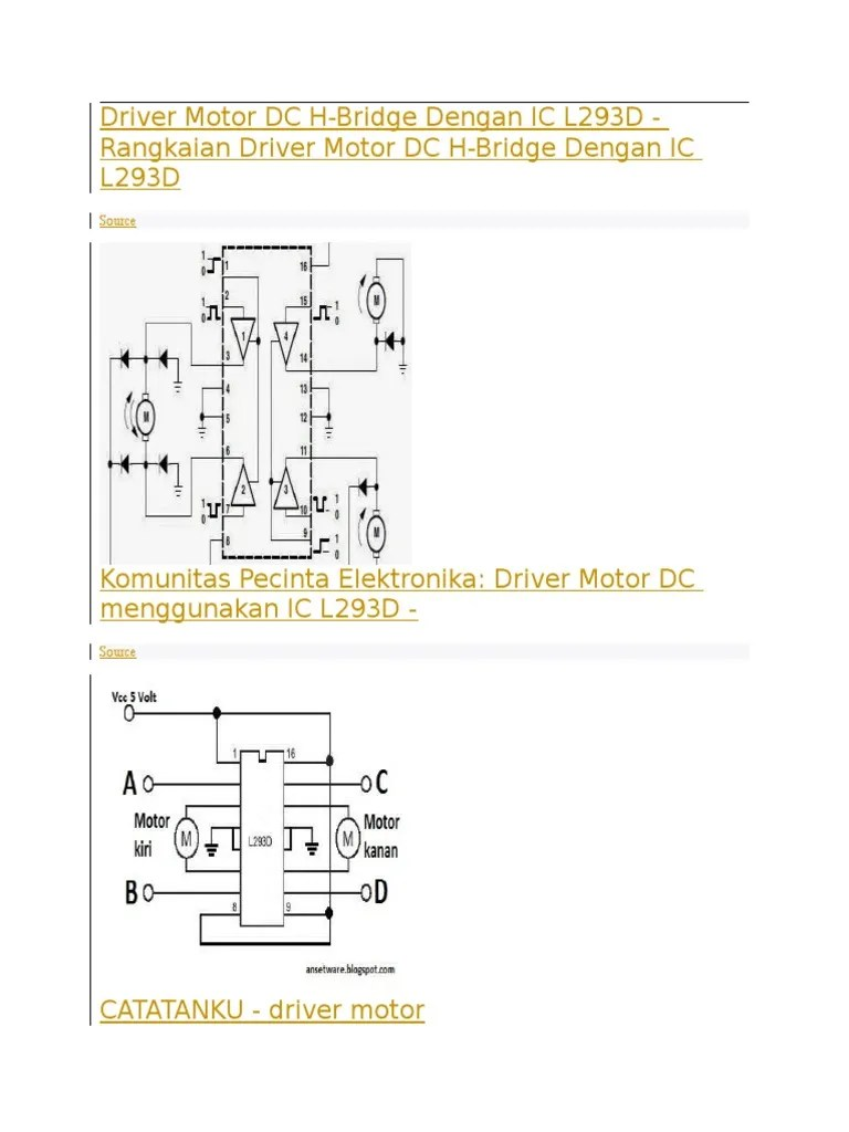 Rangkaian Driver Motor L293d : rangkaian, driver, motor, l293d, HHDFGD