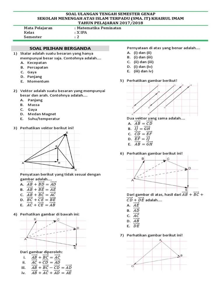 Vektor Matematika Peminatan : vektor, matematika, peminatan, Vektor, Matematika, Peminatan, Kelas, Download