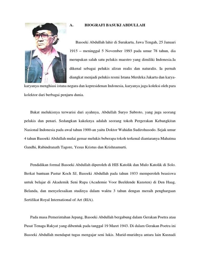 Basuki Abdullah Biografi : basuki, abdullah, biografi, Basuki, Abdullah, Biografi, Lukisan