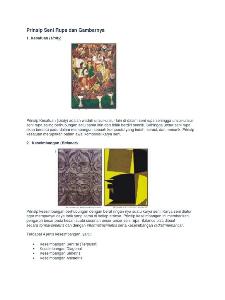 Kesatuan Dalam Seni Rupa : kesatuan, dalam, Prinsip, Gambarnya