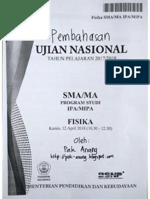 Soal Un Fisika Sma 2018 : fisika, Pembahasan, Fisika, Paket, -Pak-Anang.blogspot.com