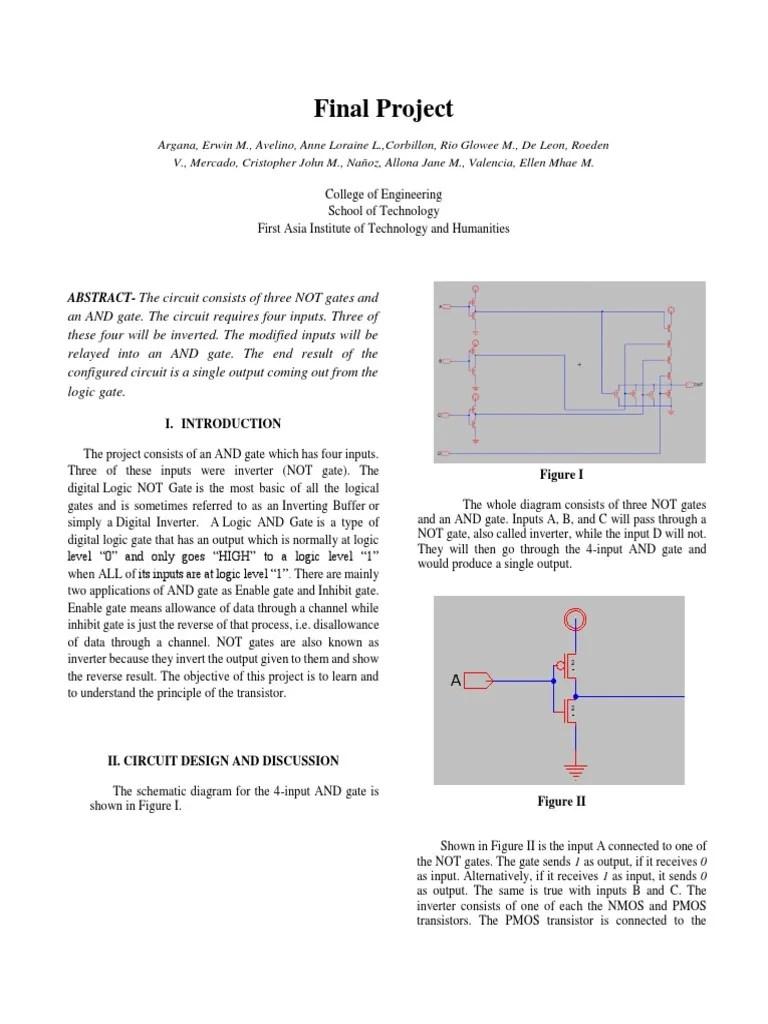 medium resolution of circuit diagram not gate