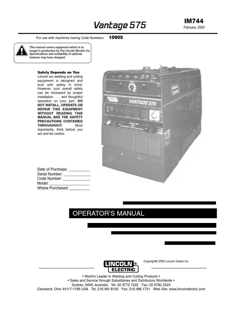 hight resolution of trifasico vantaje generador welding direct current 2003 lincoln ls radio wiring diagram lincoln vantage 575 wiring diagram
