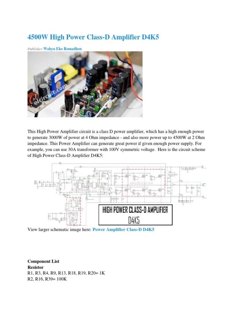 medium resolution of clas d amplifier circuit diagram