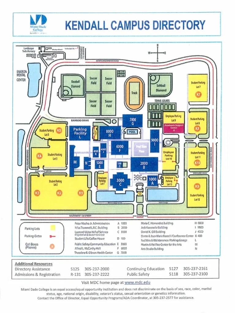 Miami Dade College Kendall Campus Map : miami, college, kendall, campus, Miami-Dade, College, Kendall, Campus