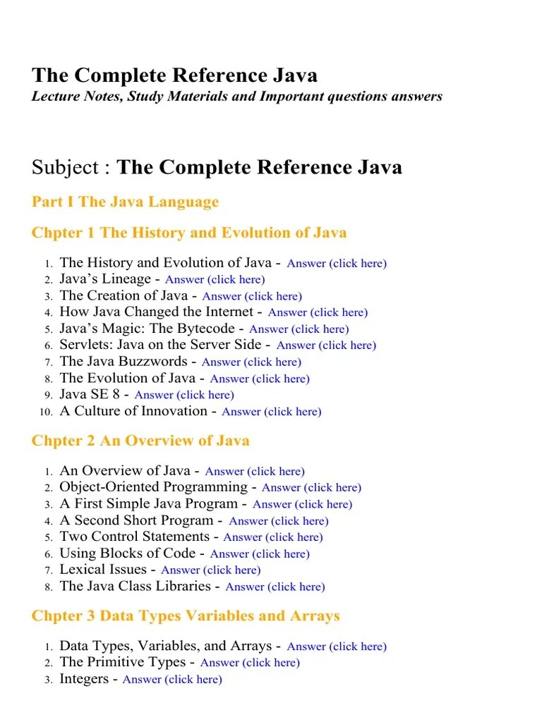 Subject: The Complete Reference Java | Anonymous Function | Java (Programming Language)