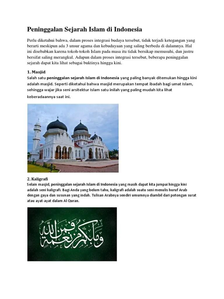 Sejarah Peninggalan Kerajaan Islam Di Indonesia : sejarah, peninggalan, kerajaan, islam, indonesia, Peninggalan, Sejarah, Islam, Indonesia