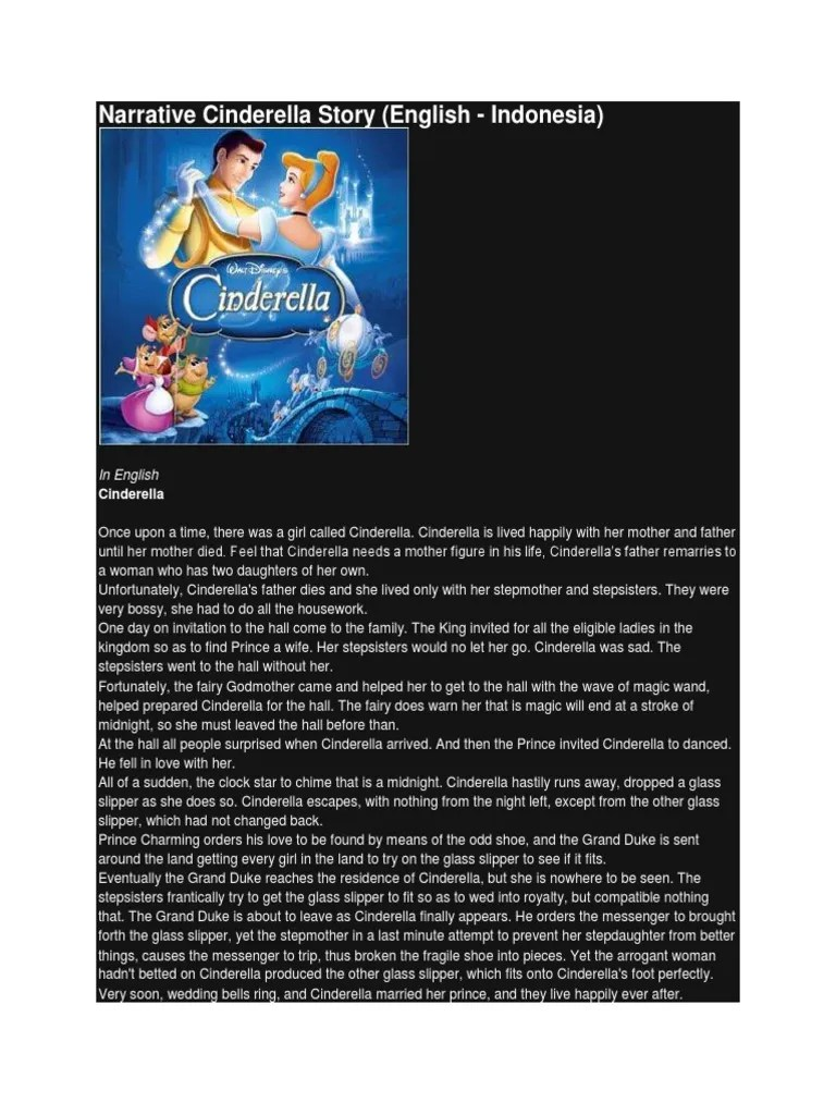 Narrative Text Cinderella : narrative, cinderella, Narrative, Cinderella, Story, Pinocchio