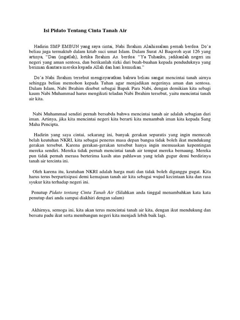 Pidato Cinta Tanah Air : pidato, cinta, tanah, Contoh, Pidato, Bahasa, Indonesia, Tentang, Cinta, Tanah, Cute766