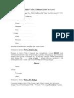 Contoh Surat Pernyataan Pelunasan Hutang : contoh, surat, pernyataan, pelunasan, hutang, Surat, Pernyataan, Pelunasan, Hutang