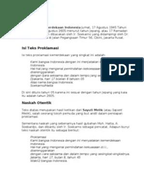 Download Teks Proklamasi : download, proklamasi, Proklamasi