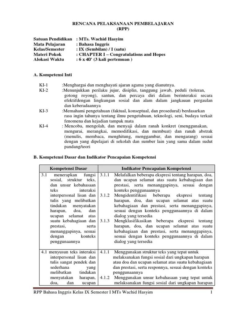 Kurikulum 2013 Smp Bahasa Inggris Pdf - IlmuSosial.id