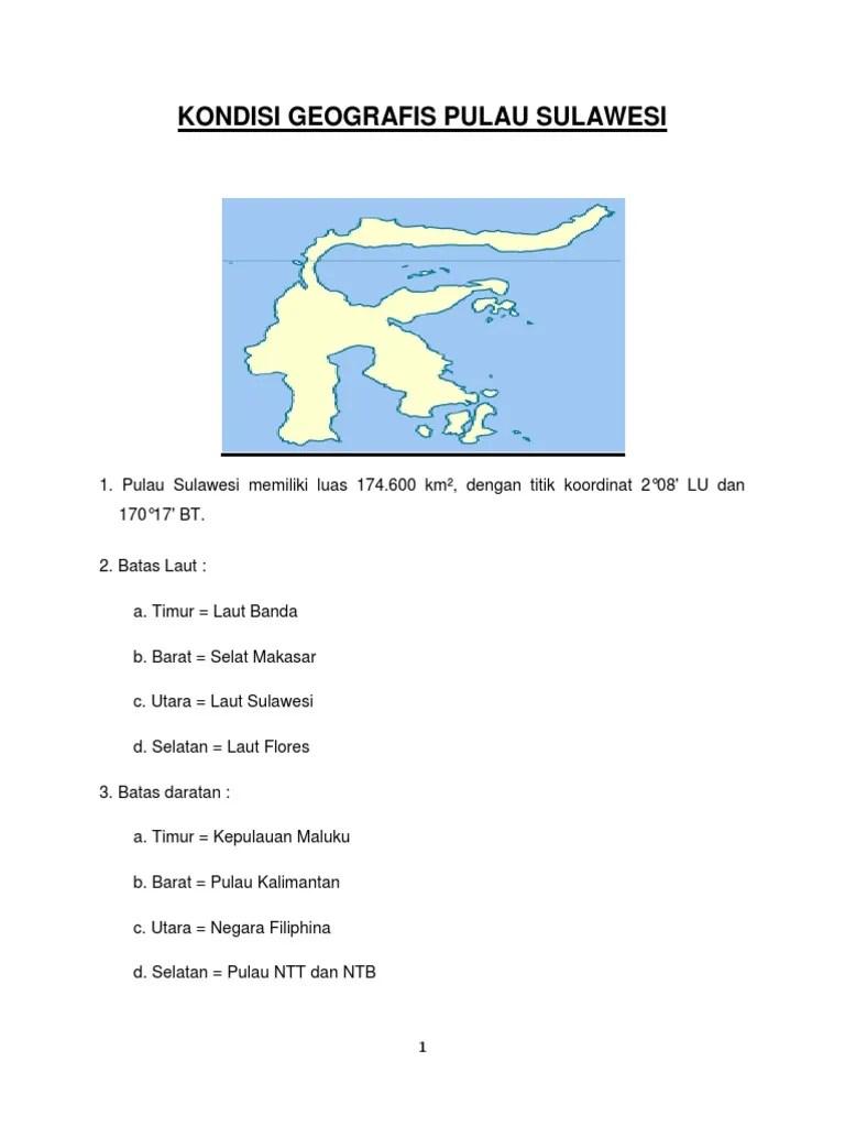 Kondisi Geografis Pulau Sulawesi Berdasarkan Peta : kondisi, geografis, pulau, sulawesi, berdasarkan, Kondisi, Geografis, Pulau, Sulawesi