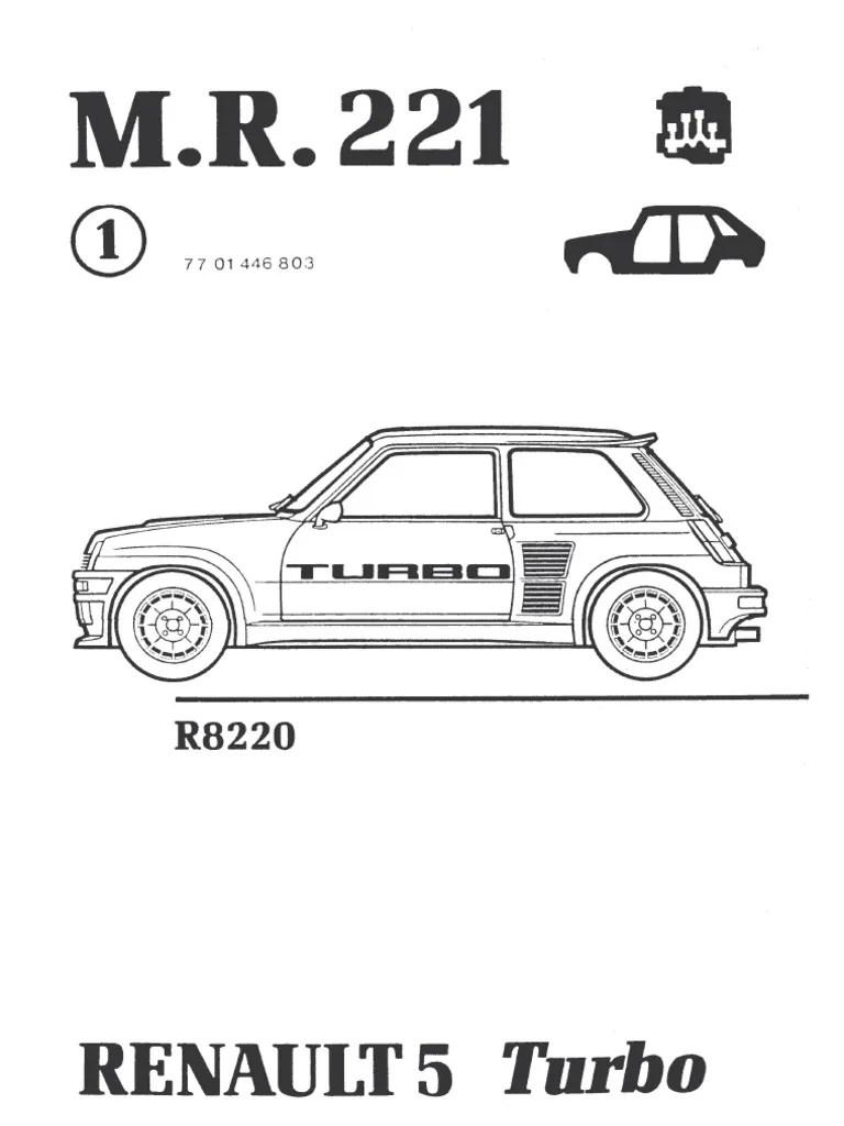 Manual Renaul 5 Turbo