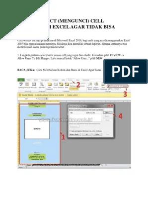 Cara Mengunci Cell Excel : mengunci, excel, Mengunci, Excel, Tidak, Diedit