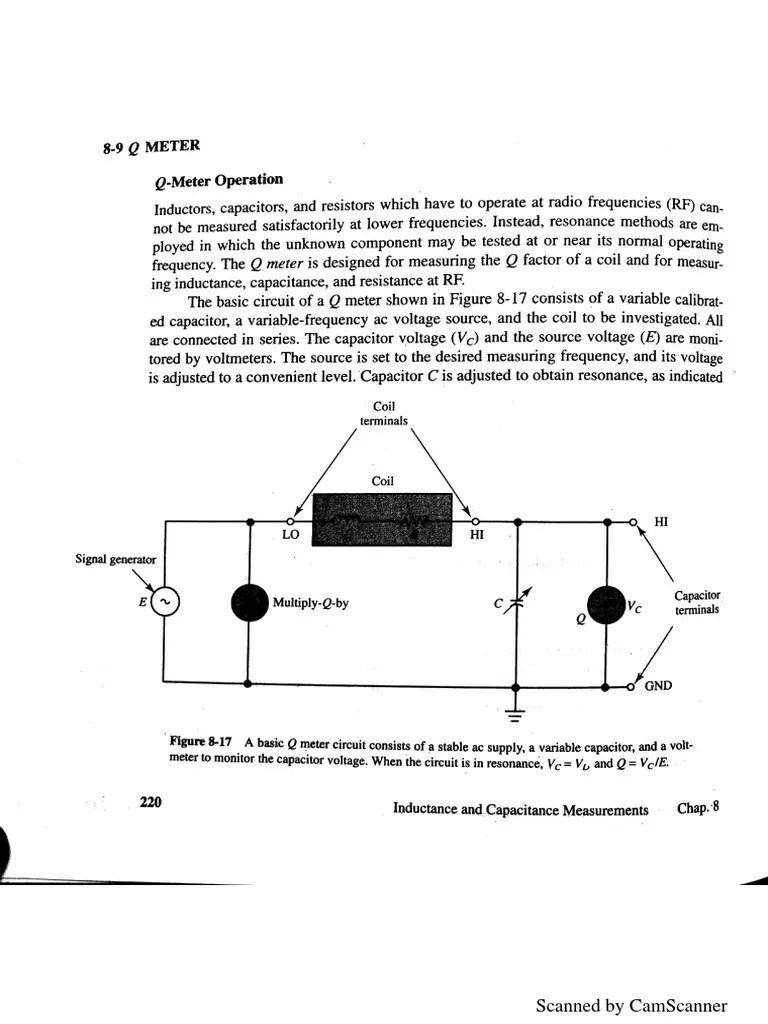 q meter circuit diagram [ 768 x 1024 Pixel ]
