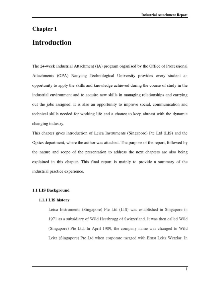 How To Write An Industrial Attachment Report Research Paper Academic