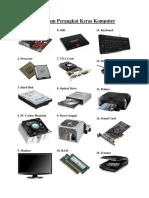 Contoh Perangkat Keras Komputer : contoh, perangkat, keras, komputer, Macam, Perangkat, Keras, Komputer:, Motherboard, Keyboard