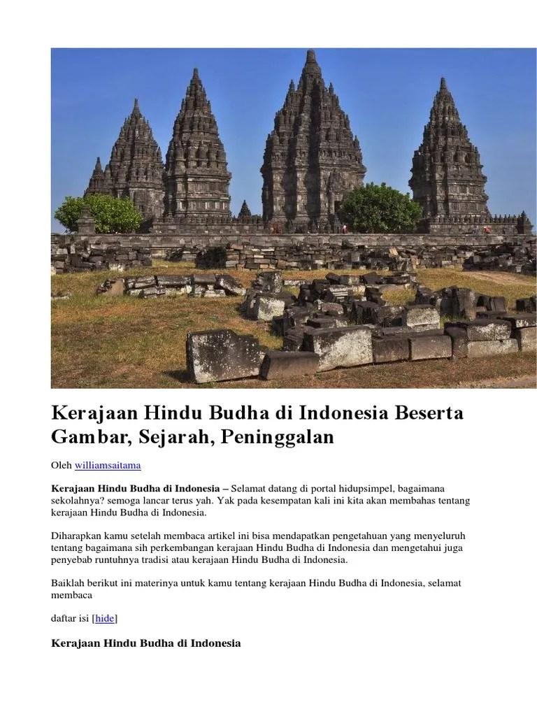 Peninggalan Kerajaan Banten Beserta Gambarnya : peninggalan, kerajaan, banten, beserta, gambarnya, Kerajaan, Hindu, Budha, Indonesia, Beserta, Gambar
